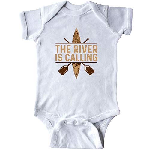 inktastic Kayaking River is Calling Kayak Infant Creeper Newborn White