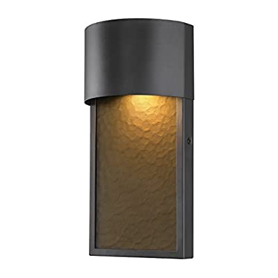 Globe Electric 44227 Sutherland 8.5W LED Integrated Outdoor Wall Sconce,Bronze