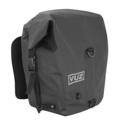 Vuz Moto 2 Piece Motorcycle Dry Saddlebags, Waterproof, Tear Resistant Motor-Bike Luggage, Suitable for Sports Bike, Adventure Bike & Street Bike