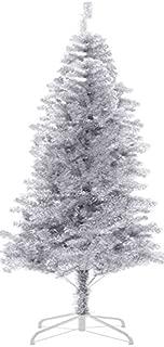HB-101 6' FT 700tips Sparking Gorgous Tinsel Chrismas Tree Silver