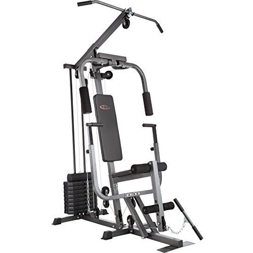 TecTake Multiestación Maquina de musculación | Módulo de Mariposa | Estribo para piernas | 8x4,5 kg & 1x3,5 kg| Barra - Varios Modelos (Typ 2 | No. 402757)