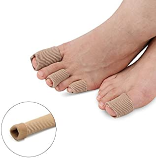 DealMux 15cm Length Calluses Blisters Bunion Cuttable Gel Lined Toe Tube Cap Cover Bandage Support