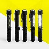 Tianba LED Camping Handlampe LED Taschenlampe/Handlampe/Arbeitsleuchte + Magnet & Clip - schwarz Extrem Hell