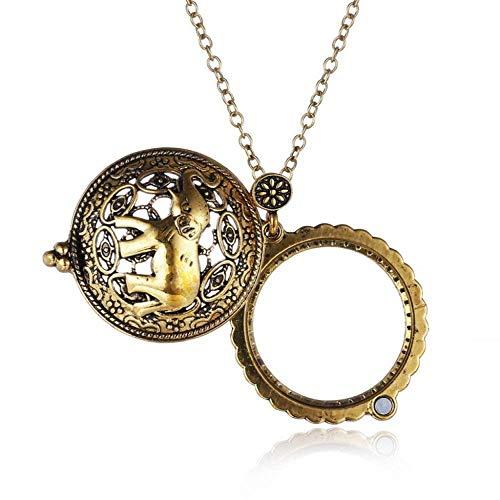 Y-longhair Cadena Collar portátil lupa de Alta Definición 5x retro del suéter del collar de la joyería viejos relojes de lectura de identificación de bricolaje Artesanía Talla portátil Magnifing de cr