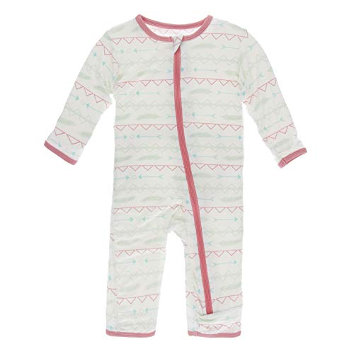 KicKee Pants Print Coverall with Zipper (Pistachio Southwest - 3-6 Months)