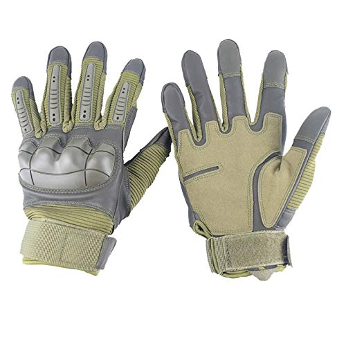 Leather Gloves Tactical Military Shooting Cut Resistant Waterproof Winter (L)