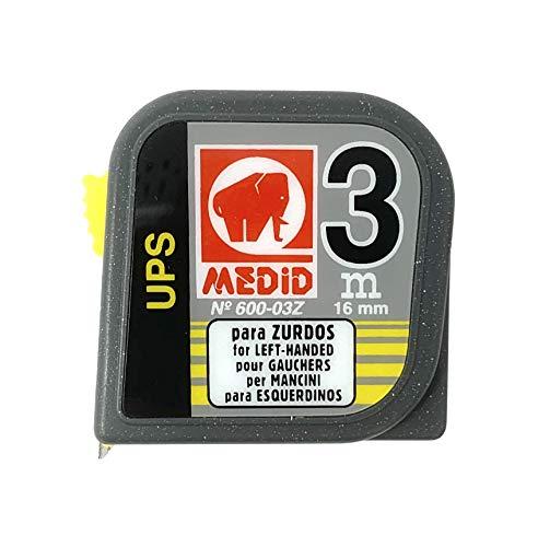 Medid 60003Z Flexómetro para zurdos de 3 Metros