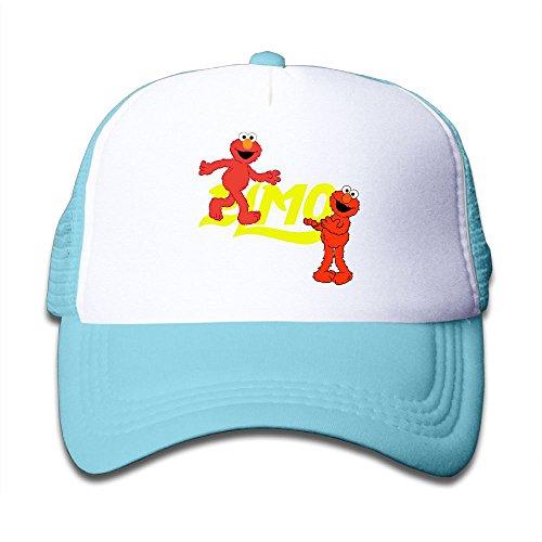 Grace Little Elmo's World Youth Outdoor Mesh Hat Sports Snapback Cap Adjustable SkyBlue