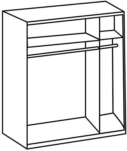 Wimex Kleiderschrank/ Schwebetürenschrank Power, (B/H/T) 126 x 190 x 60 cm, Weiß