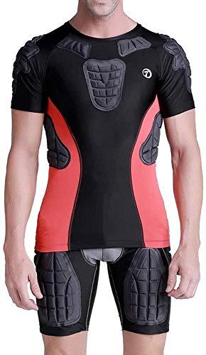 Kostuum voor mannen – compressie met korte mouwen, T-shirt, panty's, basketbal, ski, ijs, honkbal, voetbal, voetbal, voetbal, training, beschermende uitrusting