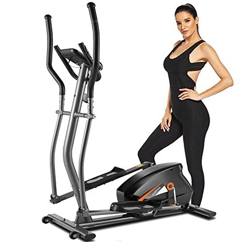 FUNMILY Elliptical Machine for Home Use, Cardio Cross Trainer with 10 Level Magnetic Resistance, LCD Monitor, Heart Rate Sensor and APP Function, 390 LBS Max Load