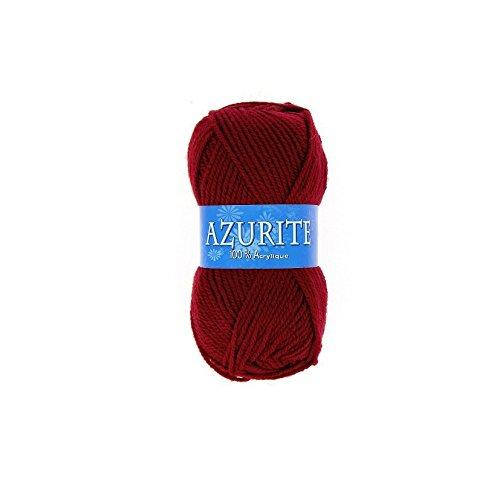 les colis noirs lcn Pelote de Laine Azurite 100% Acrylique Tricot Crochet Tricoter - Rouge - 3025