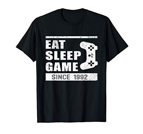 Eat Sleep Game Since 1992 | Compleanno Maglietta