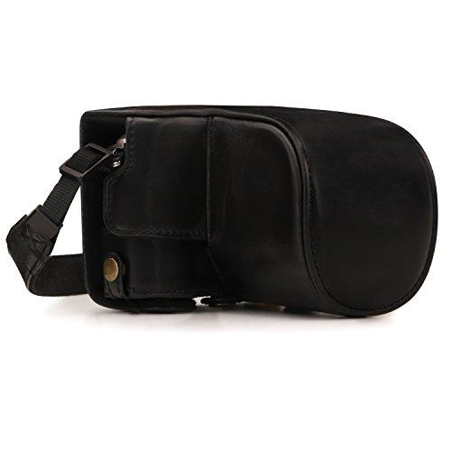 MegaGear MG1451 Olympus PEN E-PL9 (14-42mm) Ever Ready Leder Kamera-Case mit Trageriemen - Black