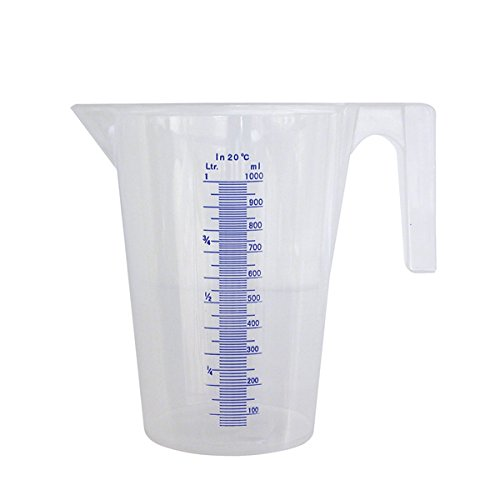 PRESSOL 7062 Messbecher transparent Polypropylen Inhalt 1,0 Liter