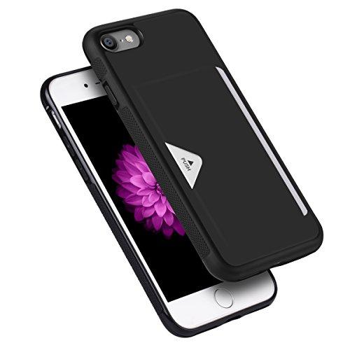 iPhone8ケース iPhone7ケース 薄型 ICカード収納 TPU+革製 耐衝撃 滑り防止 指紋防止 スマホケース 携帯カ...
