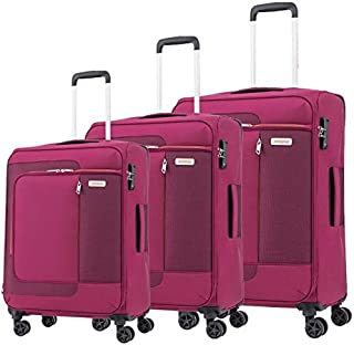 اميريكان توريستر حقائب سفر بعجلات للجنسين 3 قطع - زهري