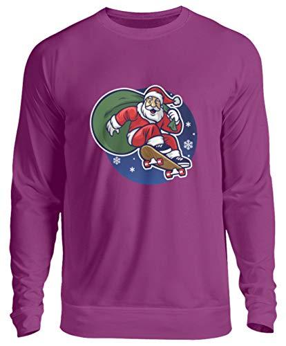 Schuhboutique Doris Finke UG (haftungsbeschränkt) Christmas Santa Claus Skateboard - Unisex Pullover -L-Magenta Magic
