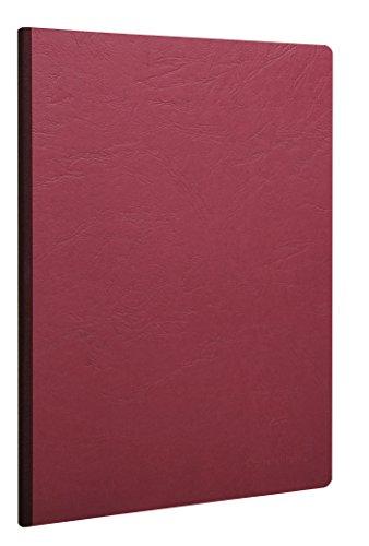Clairefontaine 791462C Heft, A4 Leinen, Age Bag, liniert mit Rand, 96 Blatt, rot