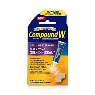 Compound W Maximum Strength Fast Acting Gel Wart Remover with 12 ConSeal Patches, 0.25 oz (B08PDPT77C) | Amazon price tracker / tracking, Amazon price history charts, Amazon price watches, Amazon price drop alerts