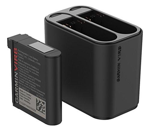 Garmin VIRB Ultra Kit Doppel-Akkuladegerät ideal für die Reise, schwarz