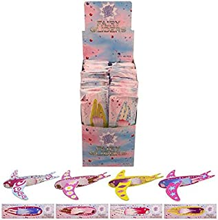 24 x Children Kids Pretty Girls Pink Flying Fairy Gliders Planes Party Bag Filler Toy by The Home Fusion Company