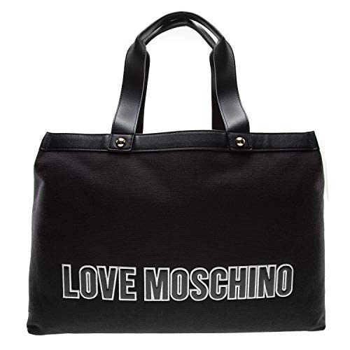 LOVE Moschino Canvas Tote Bag Black One Size