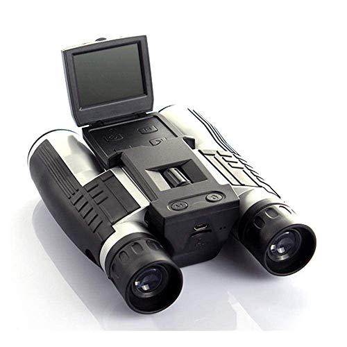 POETRY Binoculares de 12x32 mm, cámara Binocular con telescopio Digital HD de 1080p con cámara Digital incorporada para Viajes de Adultos y niños, observación de Aves, etc.