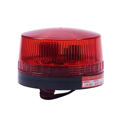 LTE-5061 DC 220V Lámpara de señal de destello roja Luz industrial brillante