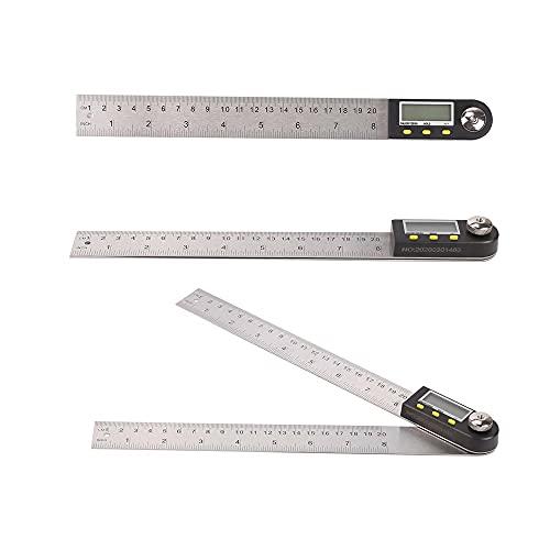 Regla de ángulo digital del buscador del medidor transportador del goniómetro de la medida de la regla de acero inoxidable