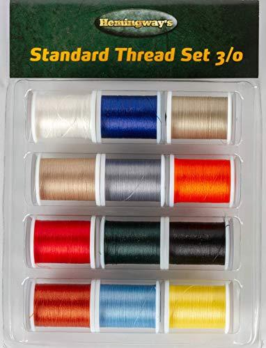 Hemingway's Standard Thread 3/0 Set of 12