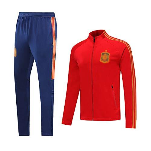 HIAO Camiseta del Club Europeo Entrenamiento de fútbol Traje Club de jóvenes Adultos de Manga Larga con Capucha de la Chaqueta Transpirable Jogging Plus Traje de Pantalones LQ0093 A00201 (Size : S)