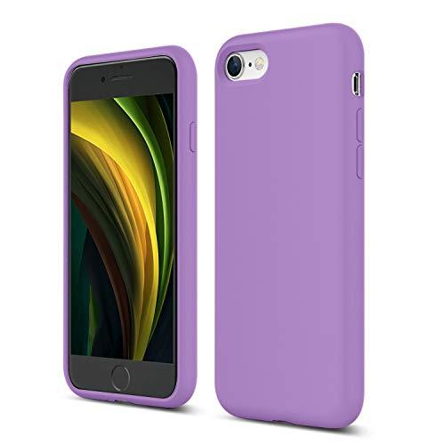 ZUSLAB Nano Silicone Funda para iPhone SE 2020/iPhone 7/iPhone 8 Case Líquido de Silicona Gel Púrpura