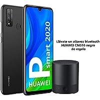 "HUAWEI P Smart 2020 - Smartphone con pantalla de 6.21"" FHD+ (Kirin 710F, 4 GB + 128 GB,  Cámara Dual IA, reconocimiento facial, batería de 3400 mAh), Negro + Altavoz CM510 negro"