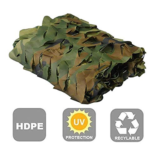 YUDIAN -Shade net Sunblock Shade Cloth Outdoor Camouflage Sun Shadeing Sail UV Resistant for Plant Cover Vegetable Greenhouses Car Sunshade Privacy Fence (Color : Green, Size : 4X5M)