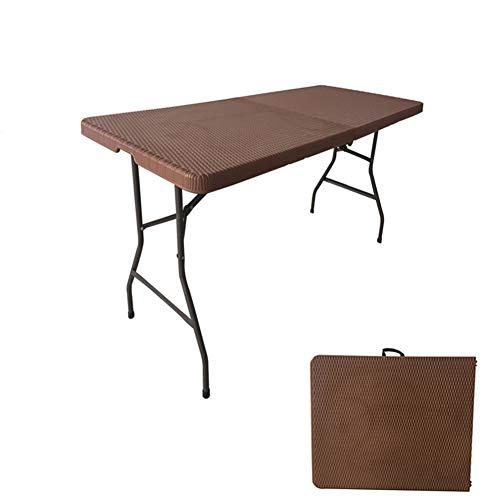 Folding table Multifunktions-Klapptisch - Tragbarer Langer Tisch Esstisch Konferenztisch Outdoor-Campingtisch, Geeignet FüR BüRohof Restaurant...