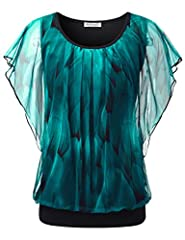 Hand wash only All over printed,short batwing sleeves Pleated at front Mesh fabric with lining Please refer to the size measurement as below