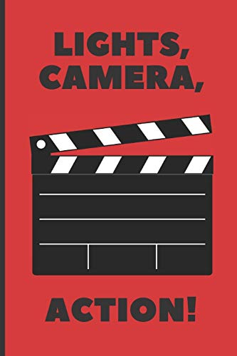 Lights, camera, action!: Lined Notebook Journal, 120 pages, A5 sized