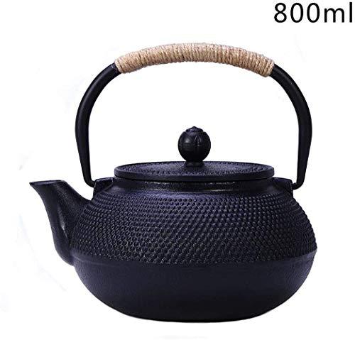 N/X Teekanne aus Gusseisen,Mini Gusseisen Wasserkocher Teekanne Tee-Set,Eisenteekanne