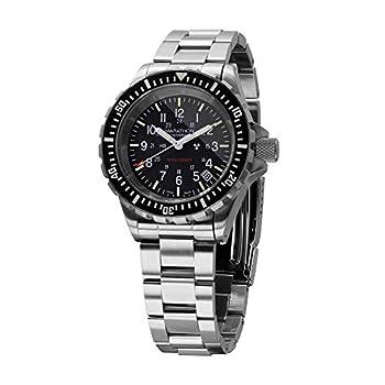 Marathon Tsar Swiss Made Military Issue Milspec Diver s Quartz Watch with Tritium Illumination  41mm Stainless Steel Bracelet US Government  WW194007BRACE-US