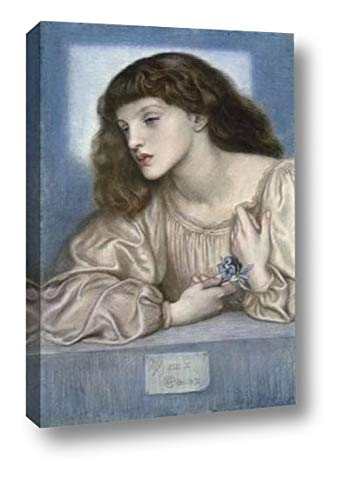 """May Morris by Dante Gabriel Rossetti - 20"""" x 30"""" Canvas Art Print Gallery Wrapped - Ready to Hang"""