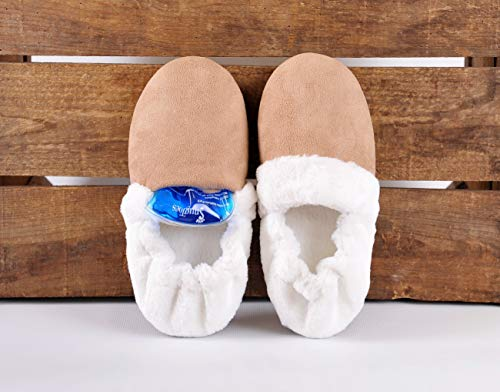 SnugToes Brivy Microwavable Heated Slippers for Women