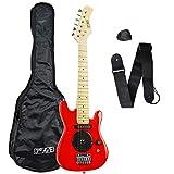 3rd Avenue Guitarra eléctrica con un tamaño 1/4, Rojo