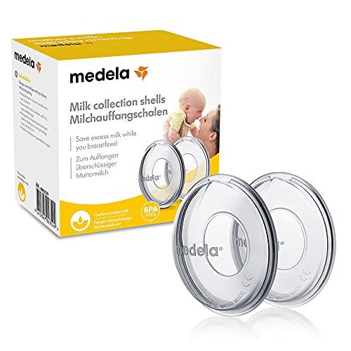 Coupelles recueil-lait Medela – Recueille les fuites pendant la tétée, Sans BPA, lot de 2