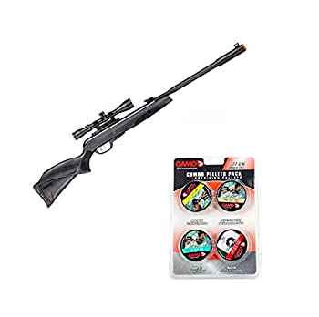 GAMO Whisper Fusion Mach 1 Air Gun .177 Cal with Combo Pack Assorted Pellets  Magnum x 250 Masterpoint x 250 Hunter x 250 Match x 250