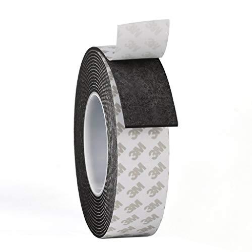 Schuimrubberen band voor deuren en ramen, isolatie, zwart, spons tegen botsing, antislip, geluidsisolatie, pasta W 2.5 cm x H 2 m 10 Mm Thick