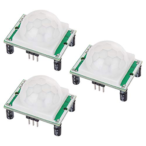Yizhet 3 Stücke HC-SR501 Menschliche Körper Pyroelektrizität Infrarot PIR Bewegungssensor Modul für Arduino und Raspberry