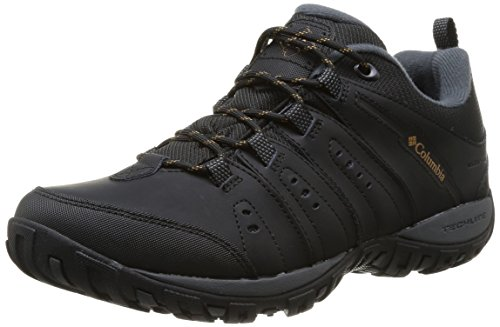 Columbia Men's Woodburn II Peakfreak Nomad Waterproof Shoes, Black, Caramel, 9 UK