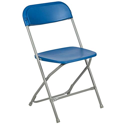 Flash Furniture 2 Pk. HERCULES Series 650 lb. Capacity Premium Blue Plastic Folding Chair