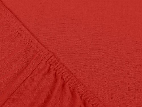 #12 npluseins Kinder-Spannbettlaken, Spannbetttuch, Bettlaken, 70×140 cm, Rot - 4